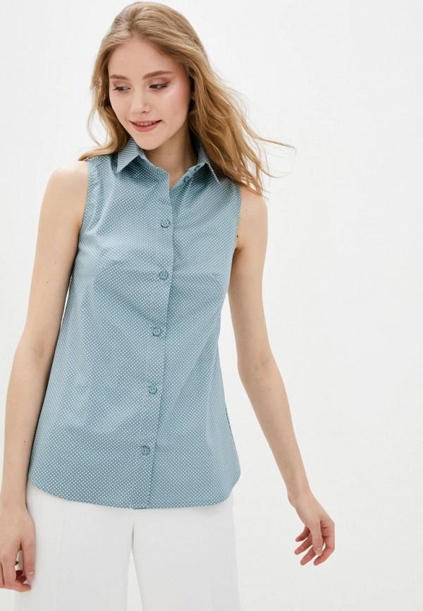 женская рубашка с коротким рукавом garne, бирюзовая