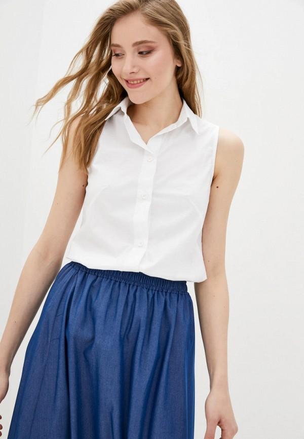 женская рубашка с коротким рукавом garne, белая
