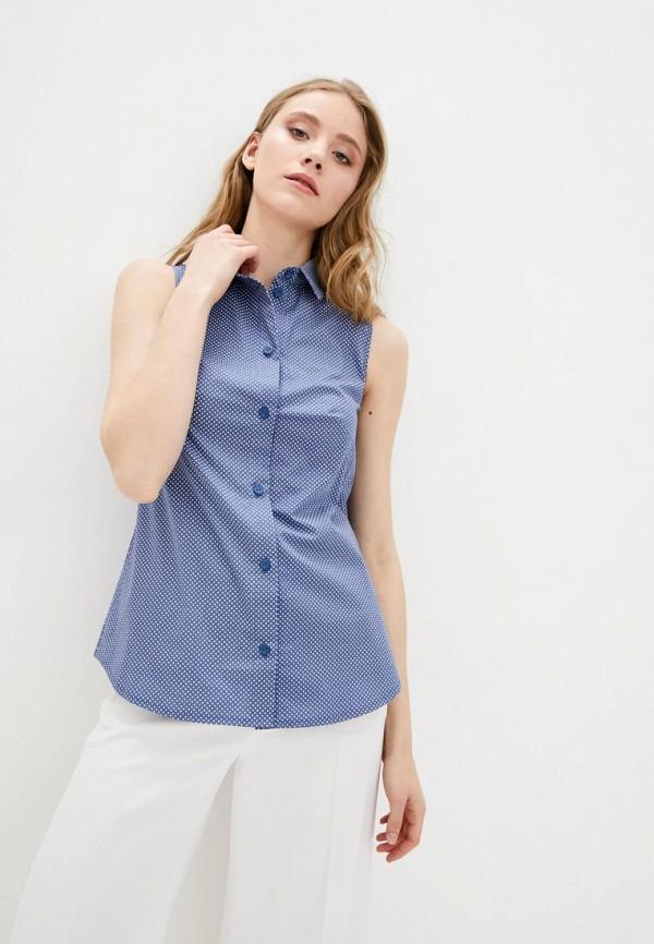 женская рубашка с коротким рукавом garne, синяя
