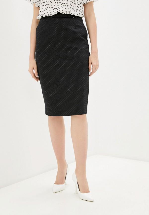 женская прямые юбка nelva, черная