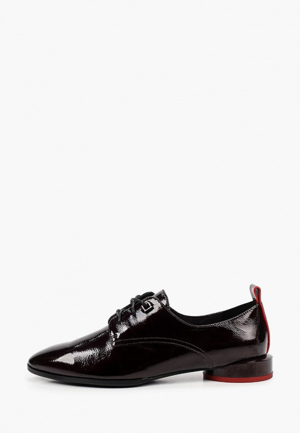 женские ботинки-оксфорды milana, бордовые