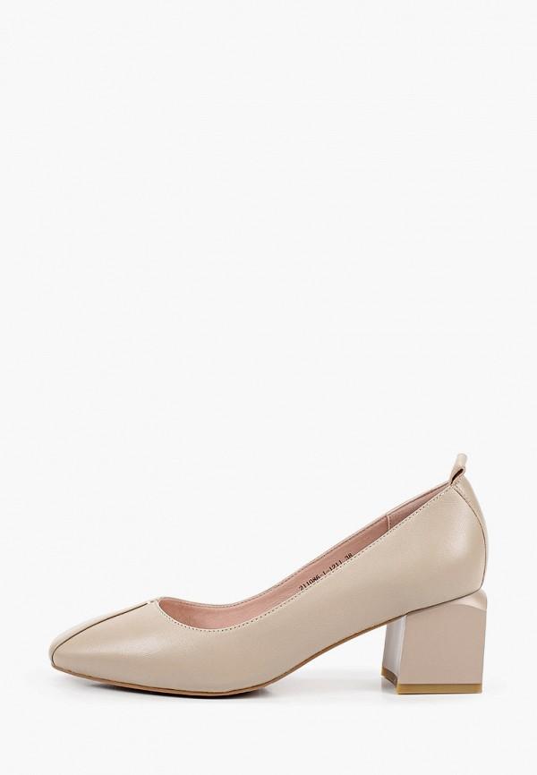 женские туфли с закрытым носом milana, бежевые