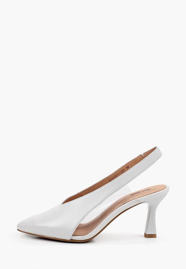 женские туфли milana, белые