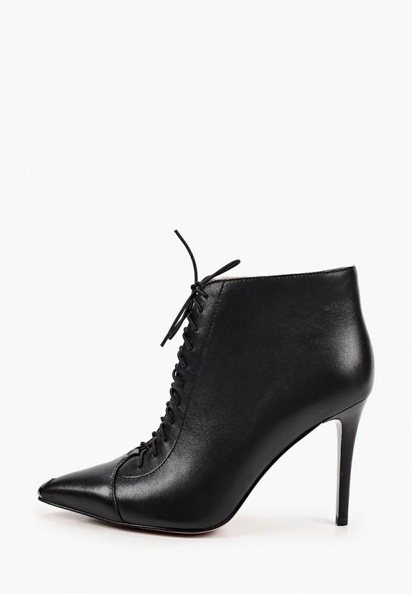 женские высокие ботильоны milana, черные