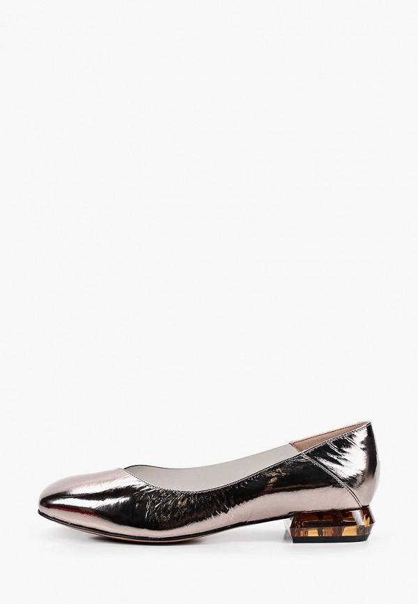 женские туфли с закрытым носом milana, серебряные