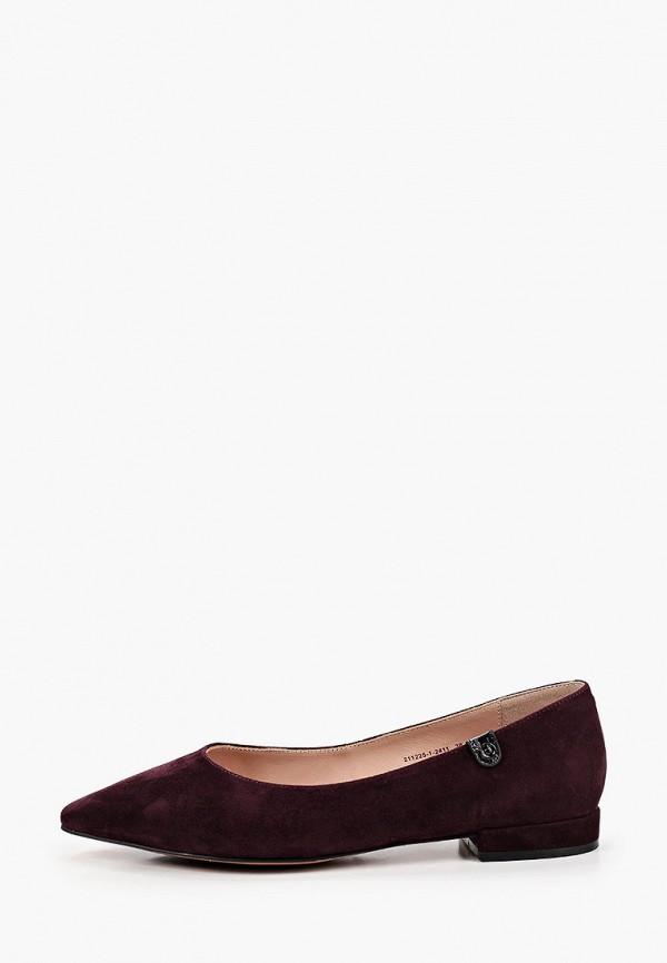 женские туфли с закрытым носом milana, бордовые