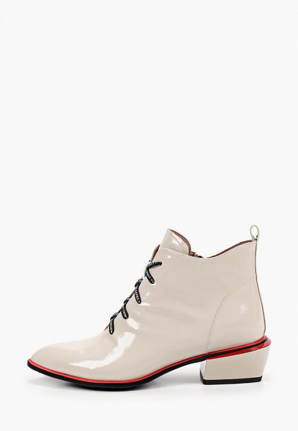 женские высокие ботинки milana, бежевые