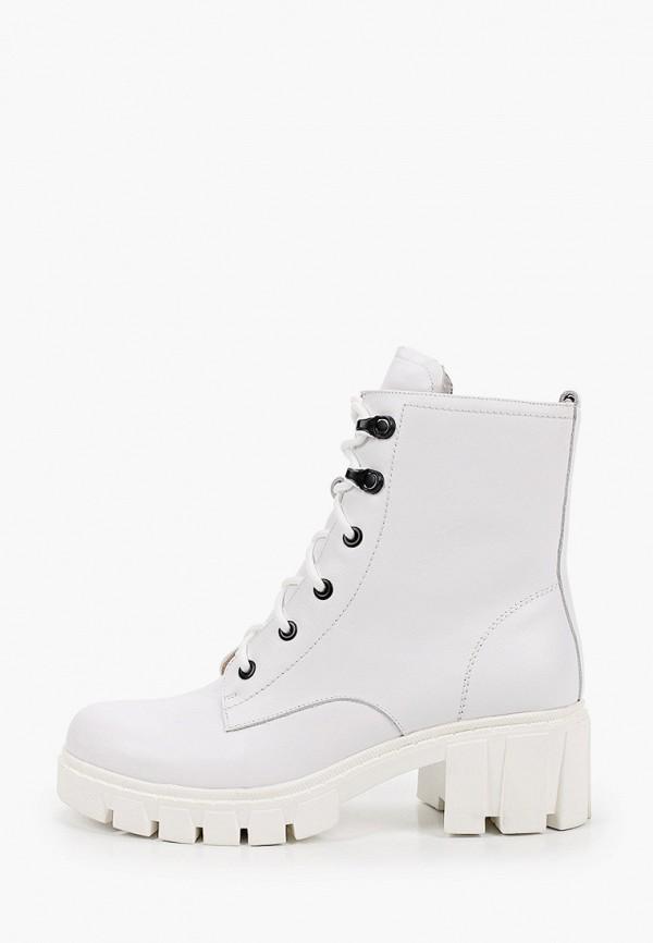 женские высокие ботинки milana, белые