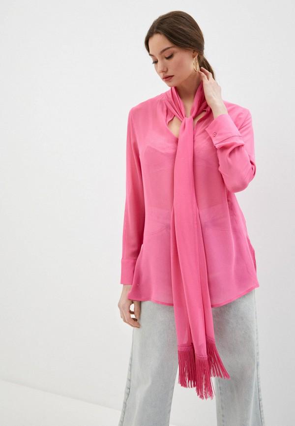женская блузка falconeri, розовая