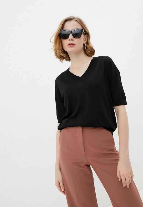 женский пуловер falconeri, черный