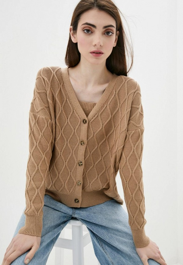 женский твинсет sewel, коричневый