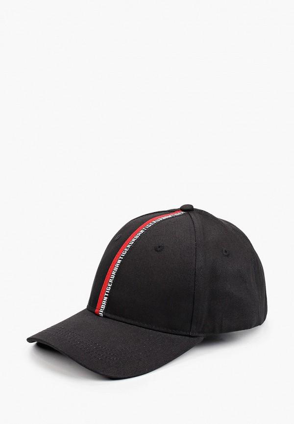 женская бейсболка urban tiger, черная