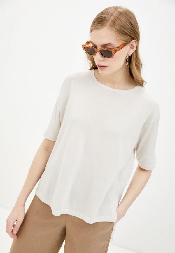 женская футболка falconeri, бежевая