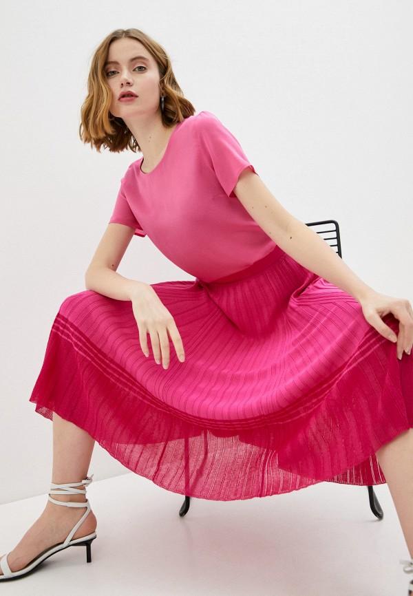 женская футболка falconeri, розовая