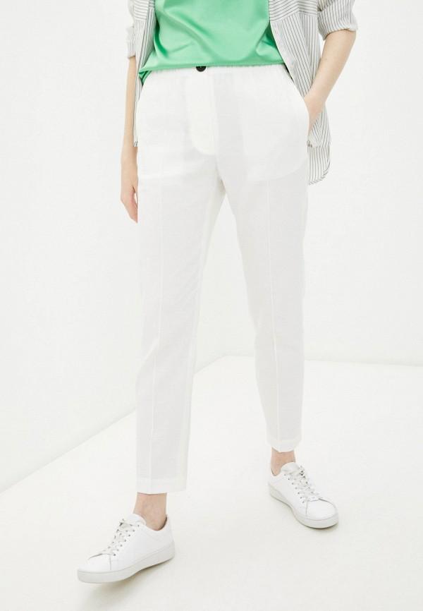 женские классические брюки falconeri, белые