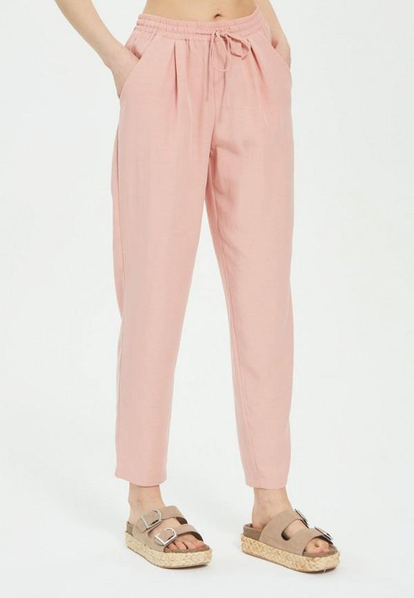 женские брюки джоггеры mira rico, розовые