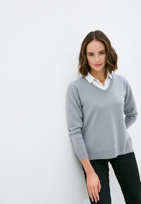 женский пуловер falconeri, серый