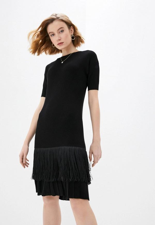 женское повседневные платье falconeri, черное
