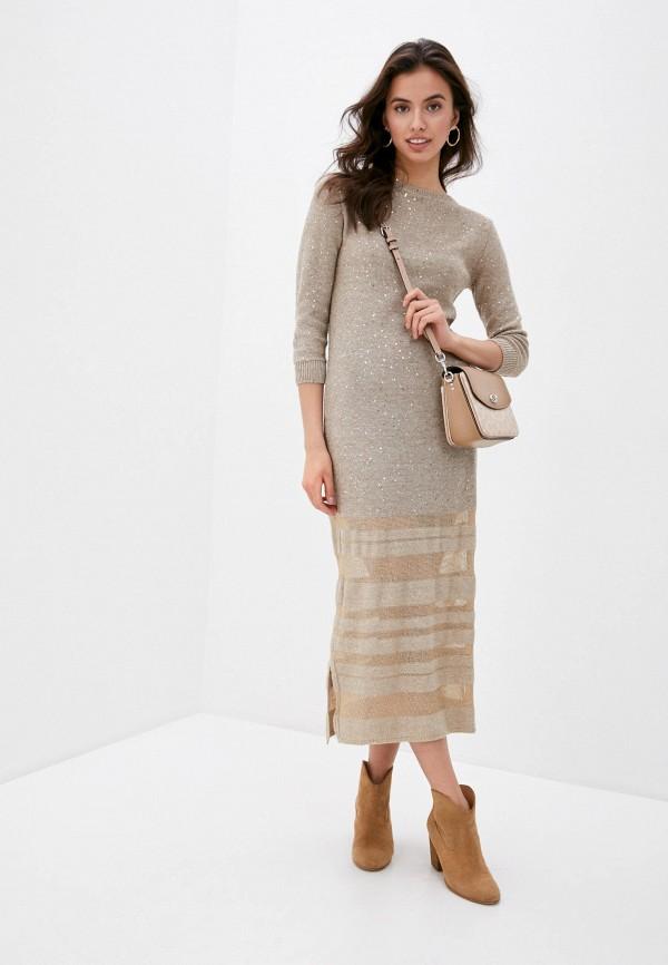 женское повседневные платье falconeri, бежевое