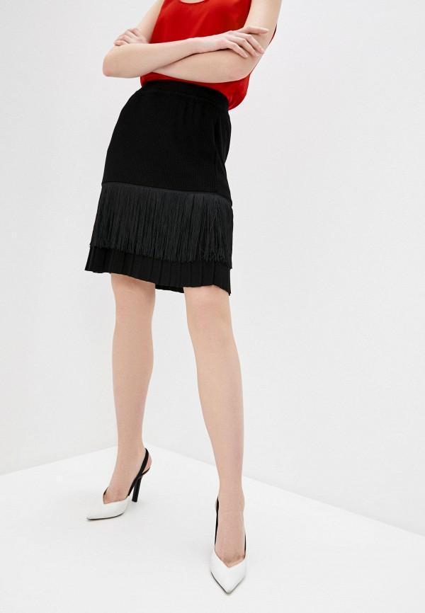 женская юбка falconeri, черная