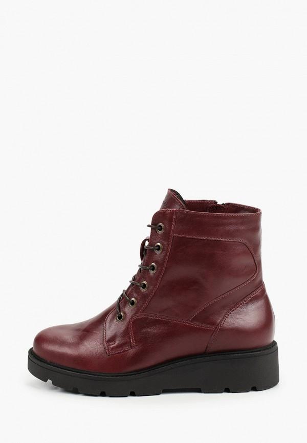 женские высокие ботинки romer, бордовые