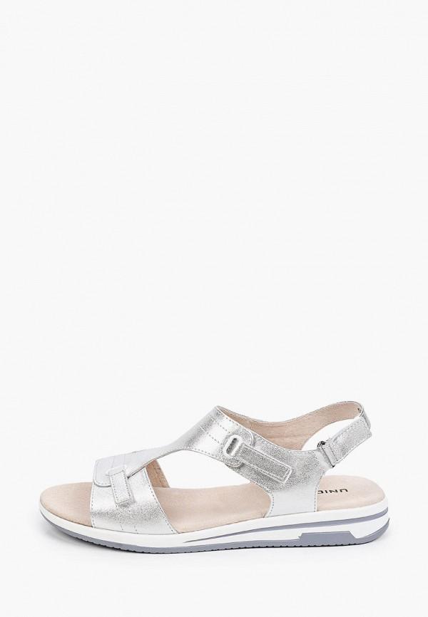 женские сандалии юничел, серебряные