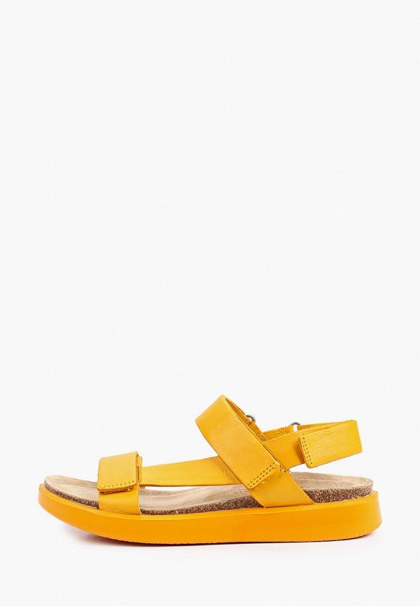 женские сандалии ecco, оранжевые