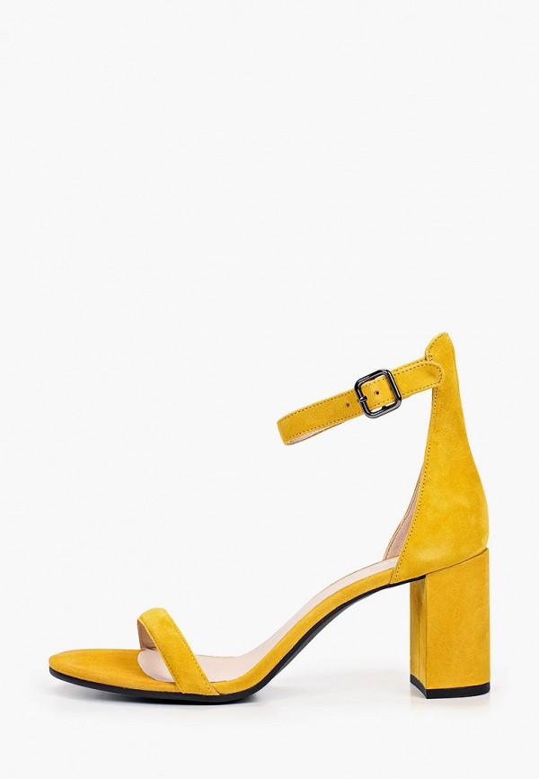 женские босоножки ecco, желтые
