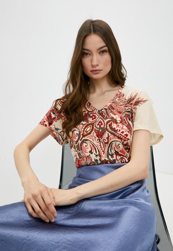 женская футболка falconeri, разноцветная