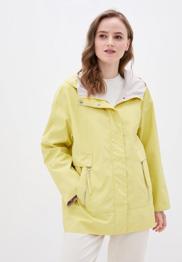 женская легкие куртка снежная королева, желтая