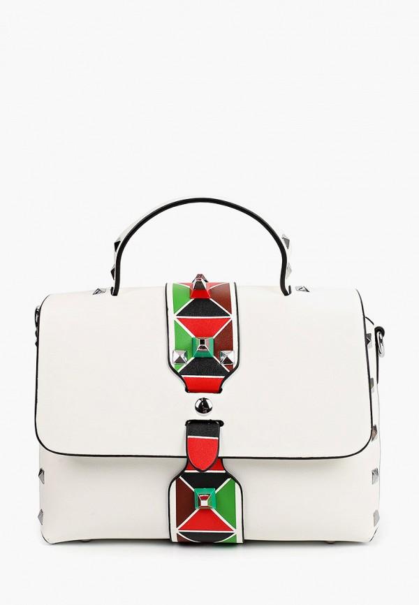 женская сумка с ручками снежная королева, белая