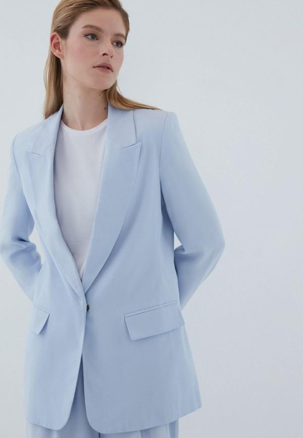 женский пиджак zarina, голубой