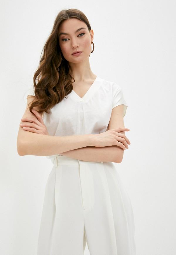 женская футболка falconeri, белая