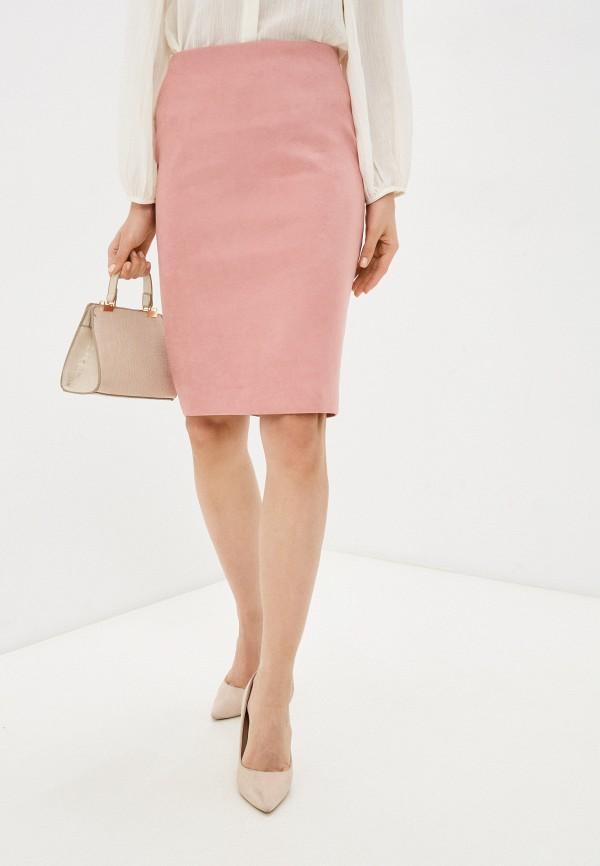 женская кожаные юбка ruxara, розовая