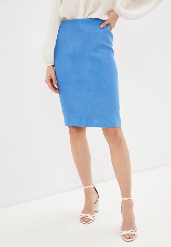 женская кожаные юбка ruxara, голубая