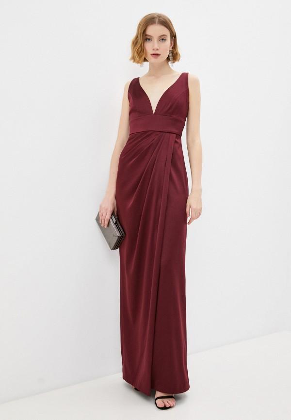 женское вечерние платье ruxara, бордовое