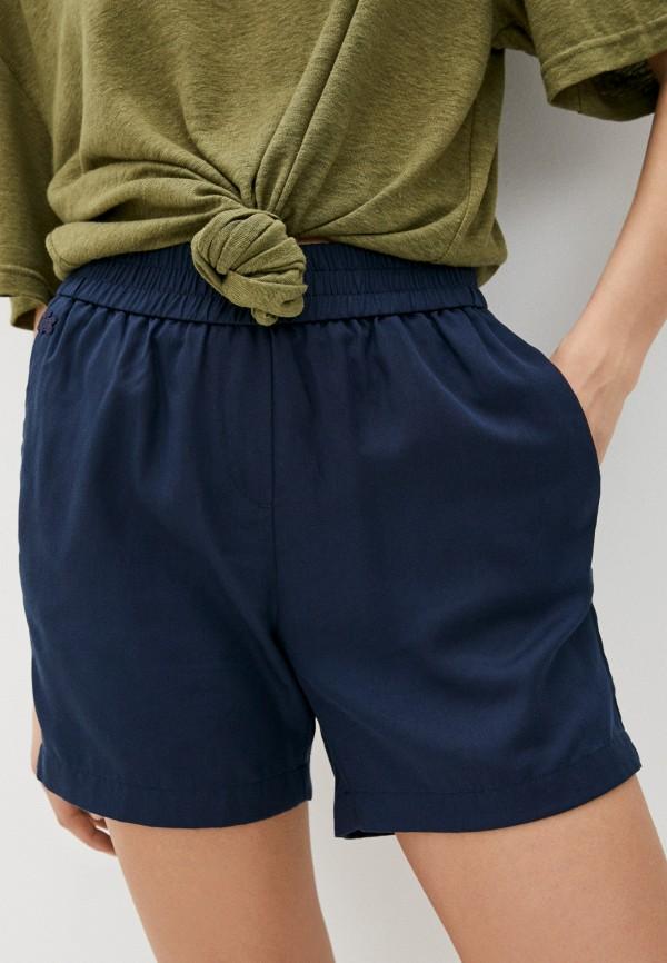 женские повседневные шорты lacoste, синие