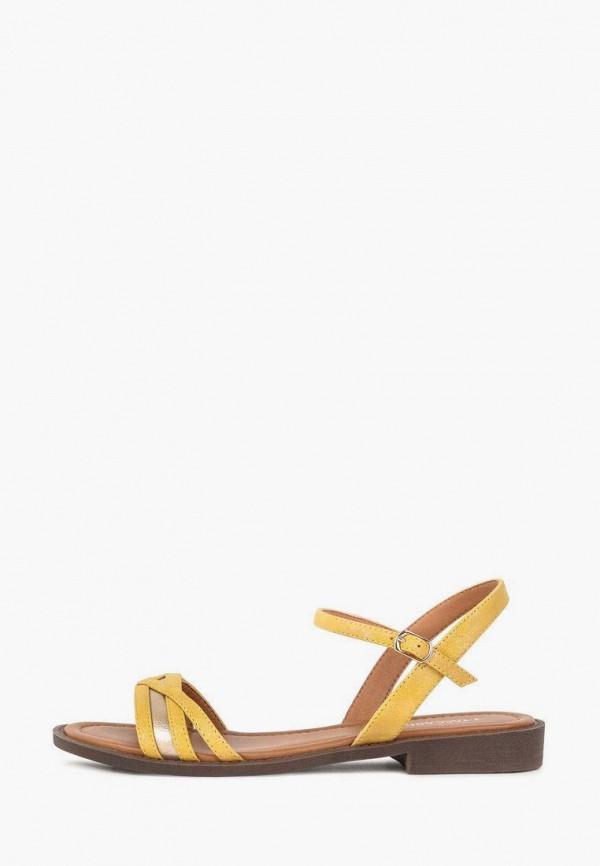 женские сандалии t.taccardi, желтые