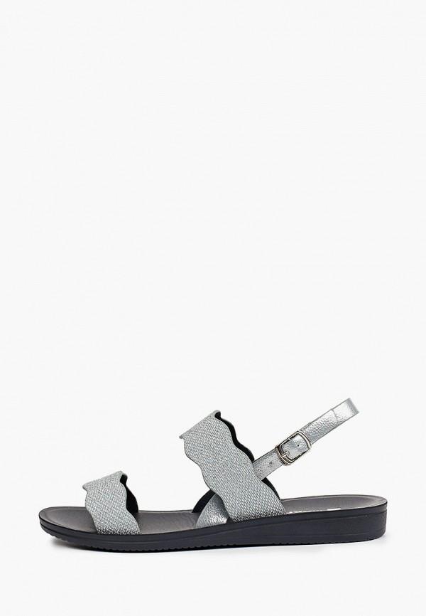 женские сандалии makfly, серебряные