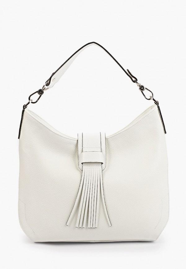 женская сумка с ручками fiato, белая