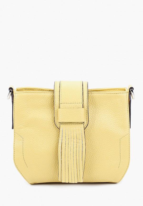 женская сумка через плечо fiato, желтая