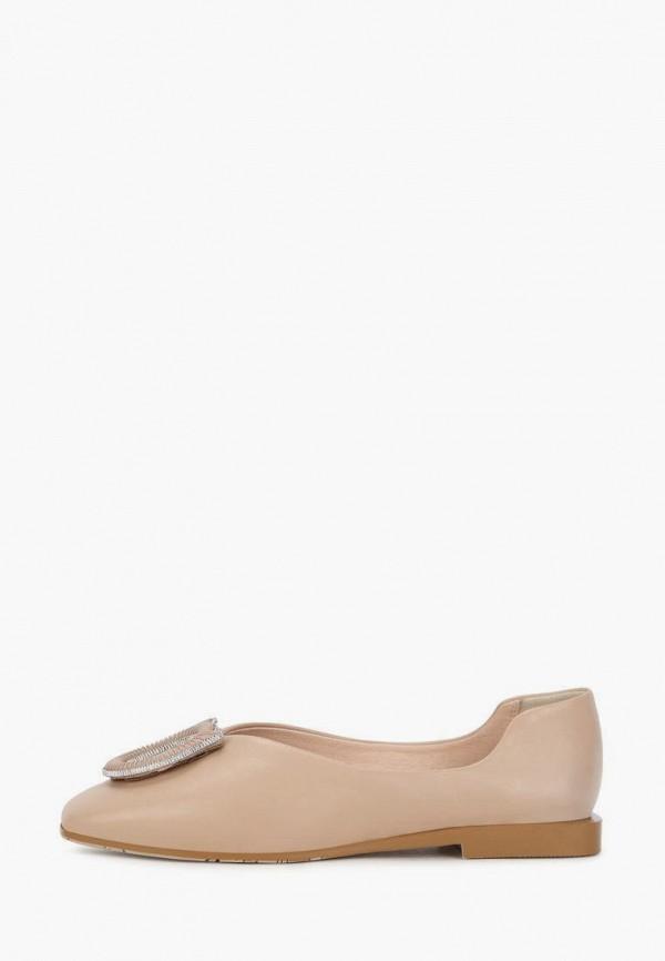 женские туфли с закрытым носом pierre cardin, бежевые