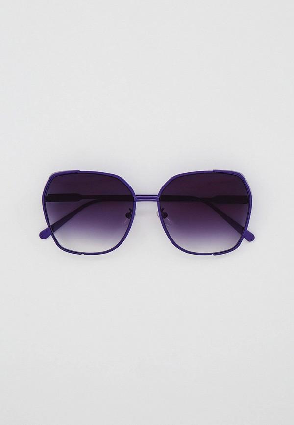 женские квадратные солнцезащитные очки bocciolo, фиолетовые