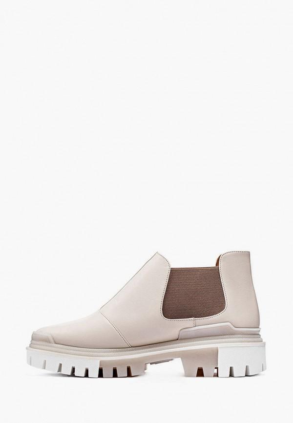 женские ботинки lookie, бежевые