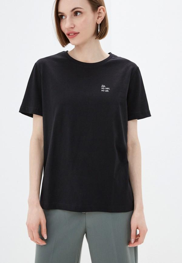 женская футболка incity, черная