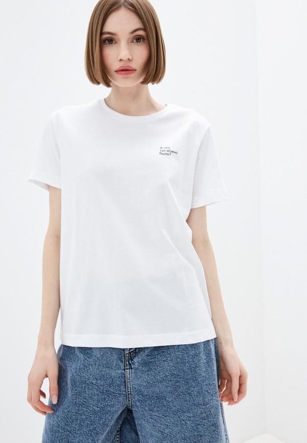 женская футболка incity, белая