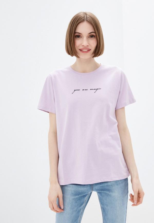 женская футболка incity, фиолетовая