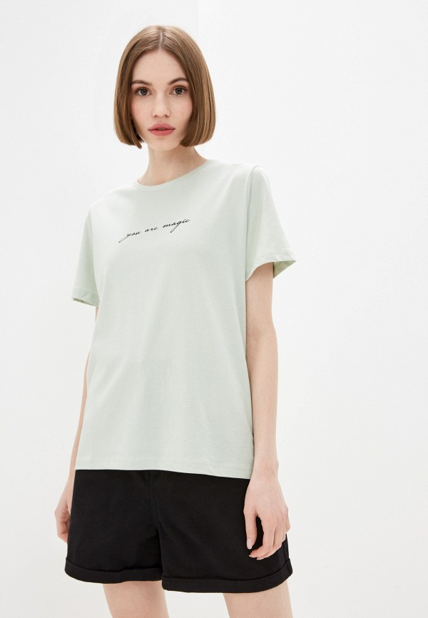 женская футболка incity, зеленая