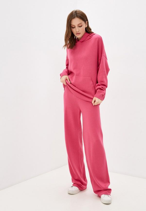 женский вязаные костюм top top, розовый