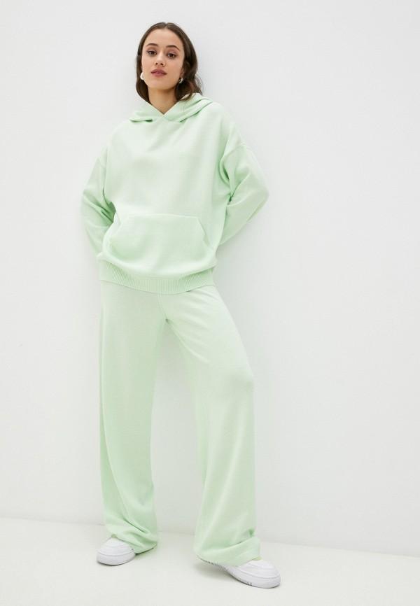 женский вязаные костюм top top, зеленый